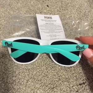 PINK Mint Green and White Sunglasses
